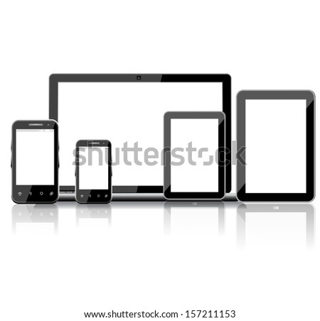Vector set of Modern Digital devices  - stock vector