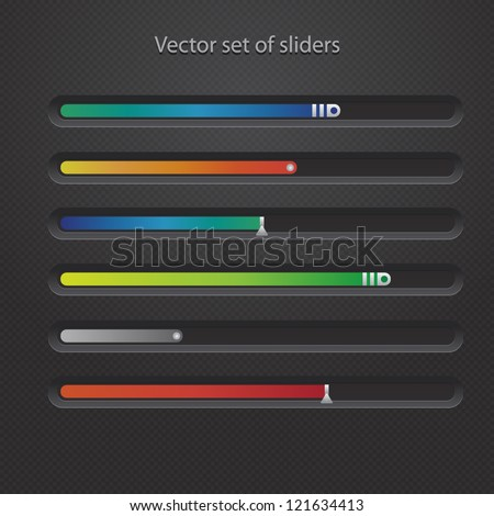 Vector set of modern web sliders for your site - stock vector