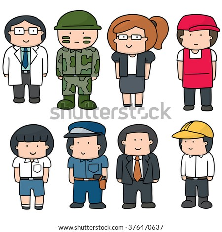 vector set of people - stock vector