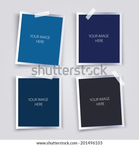 Vector set of photo frames. - stock vector