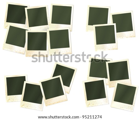 vector set of realistic photo frames - stock vector
