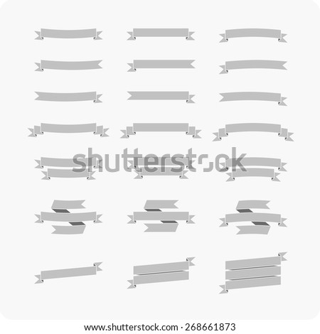 vector set of 21 ribbons - stock vector