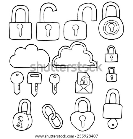 vector set of security icon - stock vector
