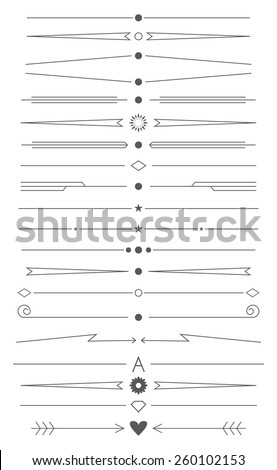 Vector set of simple design elements and page decor - stock vector