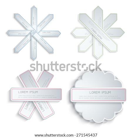 Vector set of stickers. Design template.  - stock vector