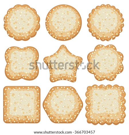 vector set of sugar cookies - stock vector