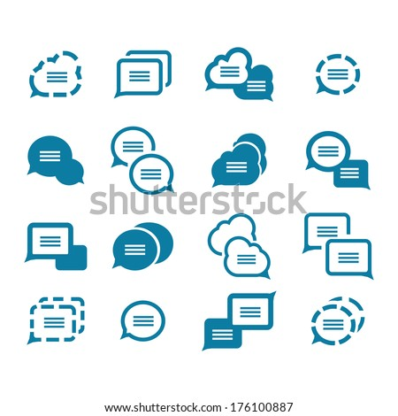 Vector set of various bubbles for speech - stock vector