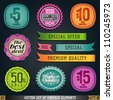 Vector Set of Vintage Elements and Labels. Graphic Design Editable For Your Design. - stock vector