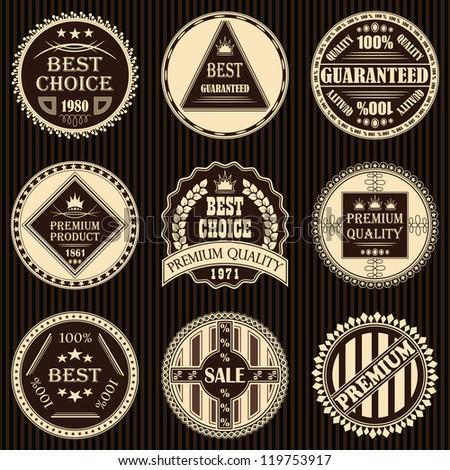 Vector set of vintage labels - stock vector