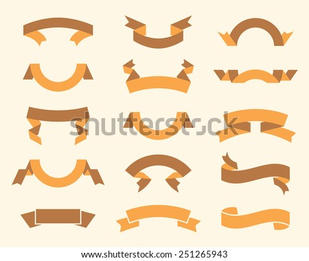 vector set of vintage ribbons - stock vector