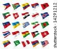 Vector set of world flags 3 - stock vector