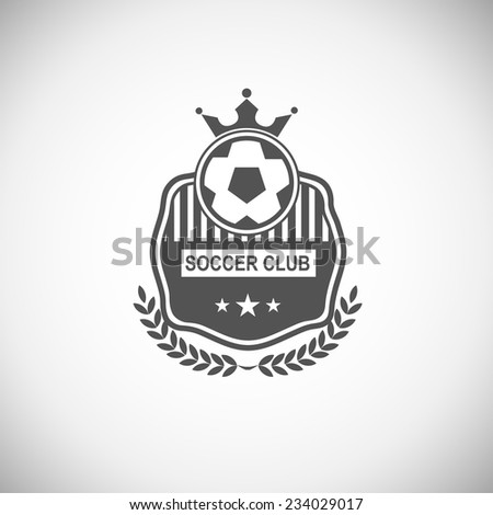 Vector set sport emblems. Logo badges and labels Football icon - stock vector