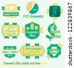 Vector Set: Vintage Economics Class Labels and Icons - stock vector