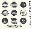 Vector Set: Vintage Poker Labels and Icons - stock vector