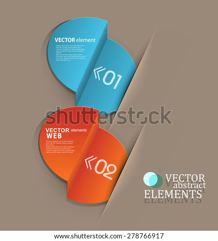 vector set, with elements for business or web design - stock vector