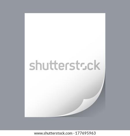 Vector sheet of paper - stock vector