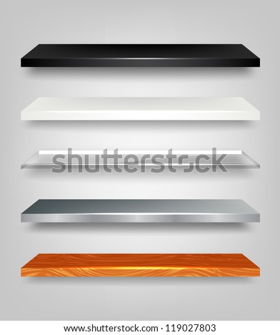 Vector Shelves Collection - stock vector