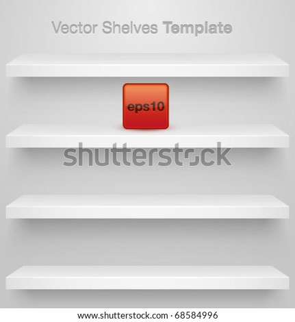 Vector shelves for your design. Easy to edit. - stock vector