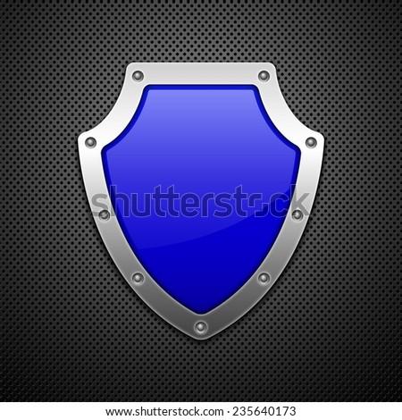 Vector shield. Vector illustration. Vector background. - stock vector
