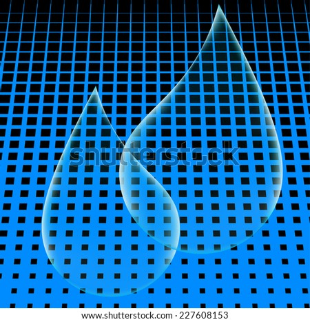 Vector Shiny Blue Shiny Bubbles on the Blue Background . Logo Design .  - stock vector