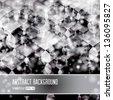 Vector shiny silver abstract background. Editable creative illustration.  - stock vector