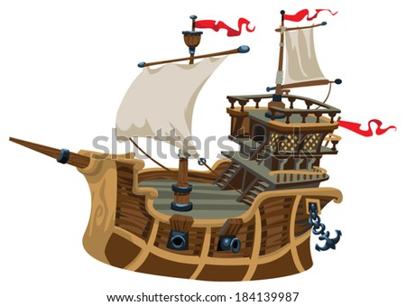 vector ship element - stock vector