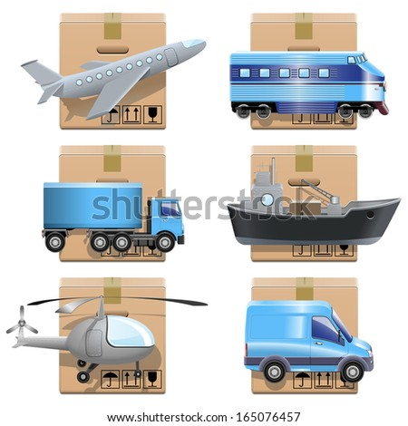 Vector Shipment Icons - stock vector