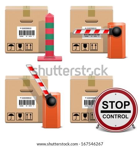 Vector Shipment Icons Set 22 - stock vector
