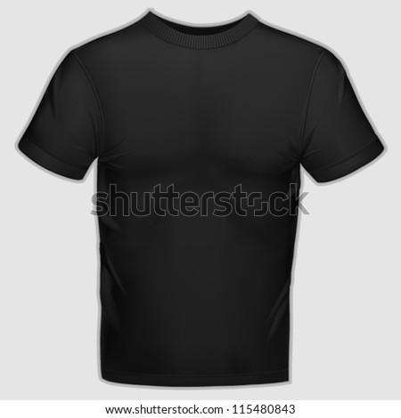 Vector shirt template - stock vector