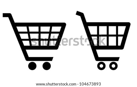 Vector shopping cart icons - stock vector