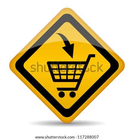 Vector shopping cart sign - stock vector