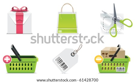 Vector shopping icon set and elements. Part 3 - stock vector