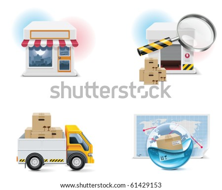 Vector shopping icon set and elements. Part 1 - stock vector