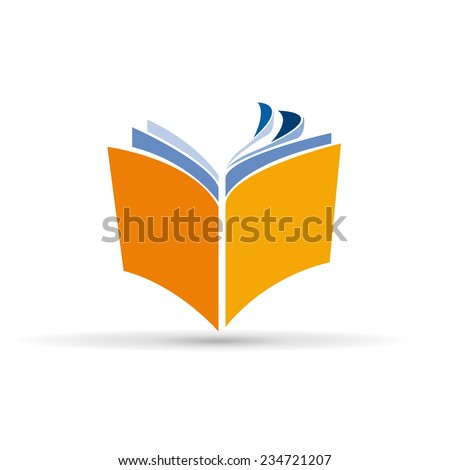 Vector sign abstract book - stock vector