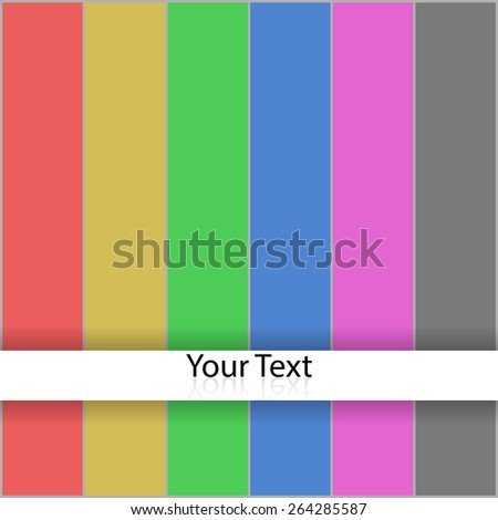 Vector sign Color bars. - stock vector