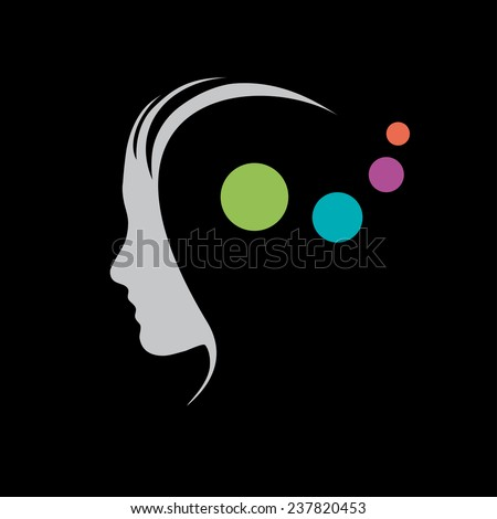 Vector sign concept of psychologist, analist or scientist - stock vector