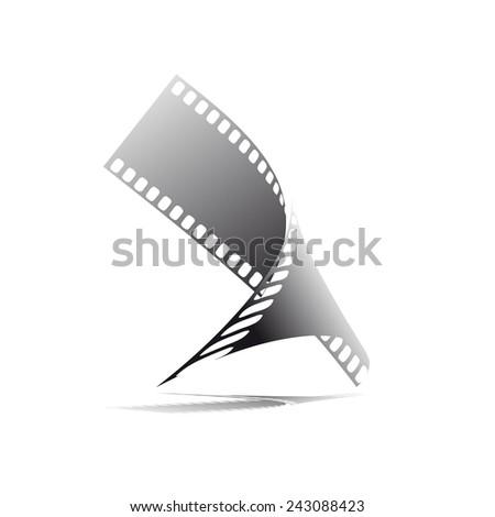 Vector sign film strip, photographer - stock vector