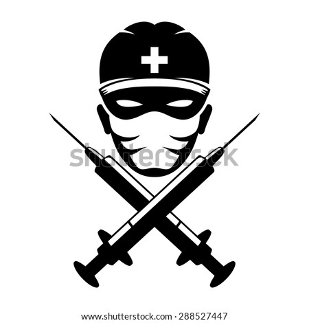 Vector sign. Medic. - stock vector