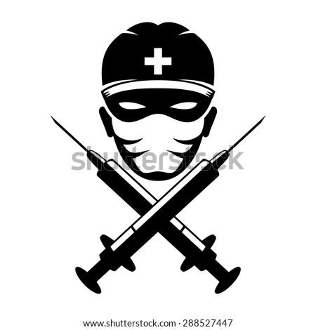 Vector sign. Medic. - stock vector