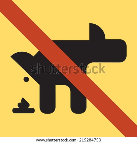 Vector sign of dog pooping restriction no dog pooping allowed