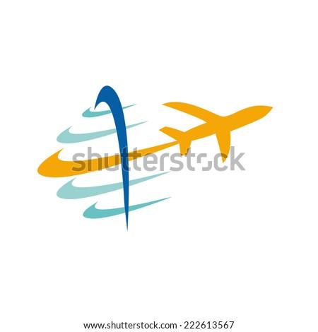 Vector sign travel - stock vector