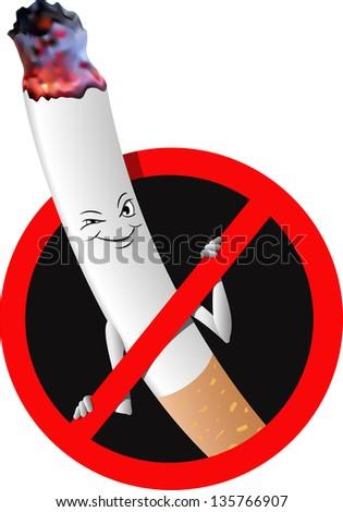 "Vector signs ban ""no smoking"" - stock vector"