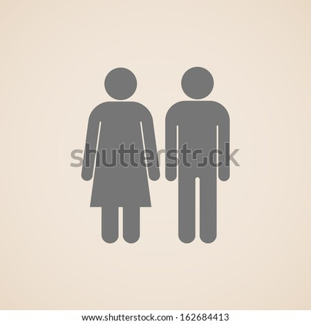 vector signs of man and woman restroom - stock vector