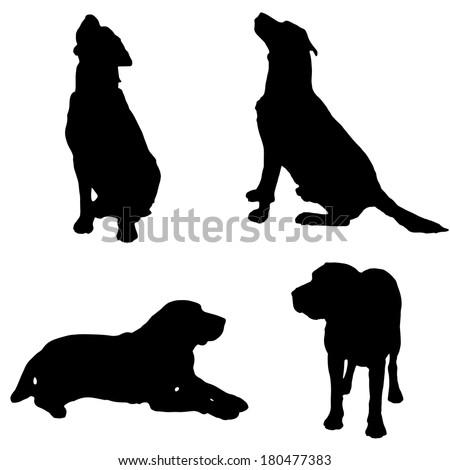 Stock Images similar to ID 46839259 - labrador retriever silhouette