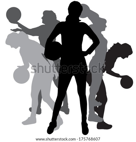 Volleyball setting silhouette