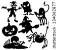 Vector silhouettes. Halloween. - stock vector