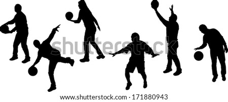 Vector silhouettes of sporting activities. - stock vector