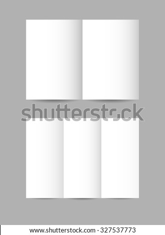 Vector simple folded paper leaflets in white color   - stock vector