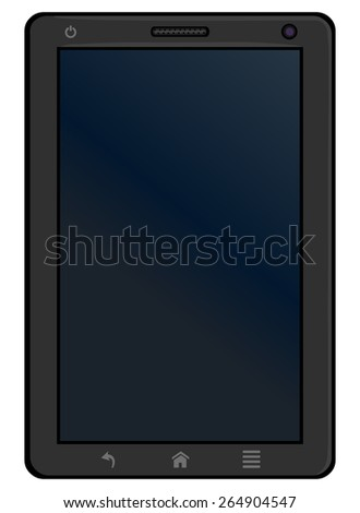 Vector Single Cartoon Tablet PC  - stock vector