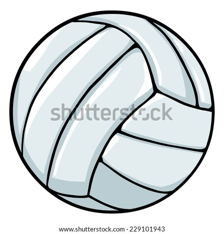 Vector Single Cartoon  Volleyball Ball - stock vector
